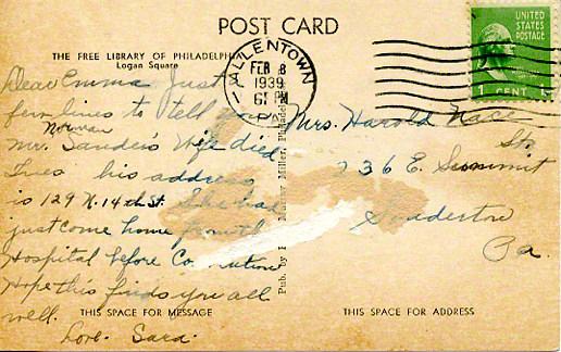 postcardallentownreverse1939february