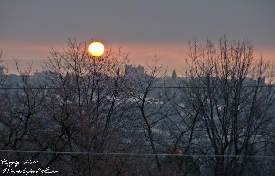 Red Sunrise Over Cornell– CLICK ME!!!!