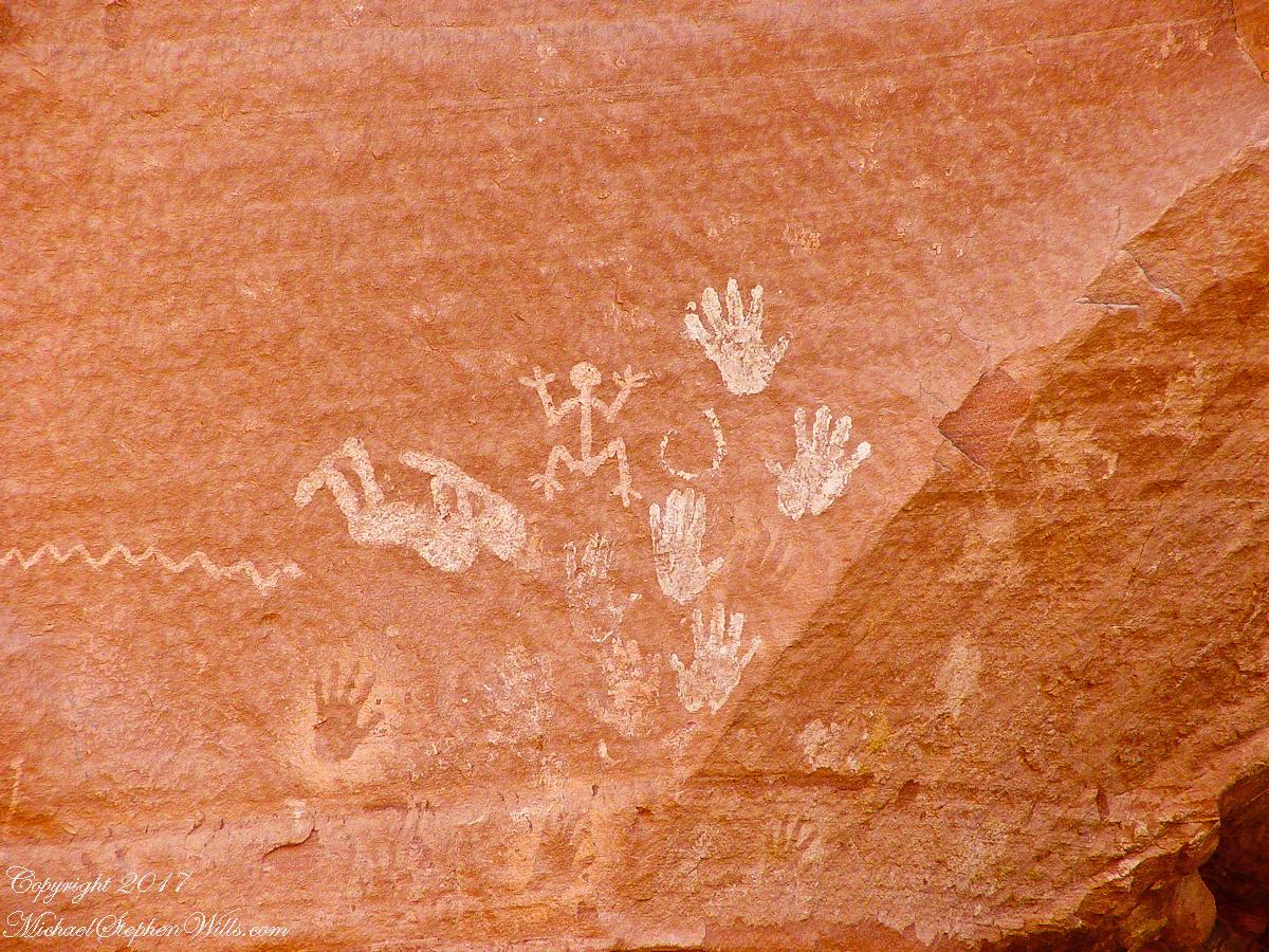 Pictographs Canyon De Chelly