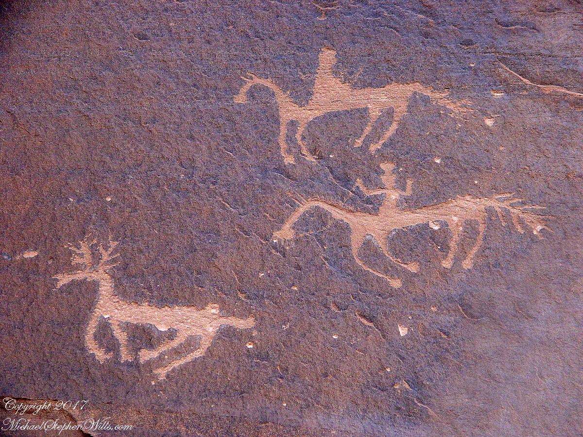 Desert Varnish Petroglyph