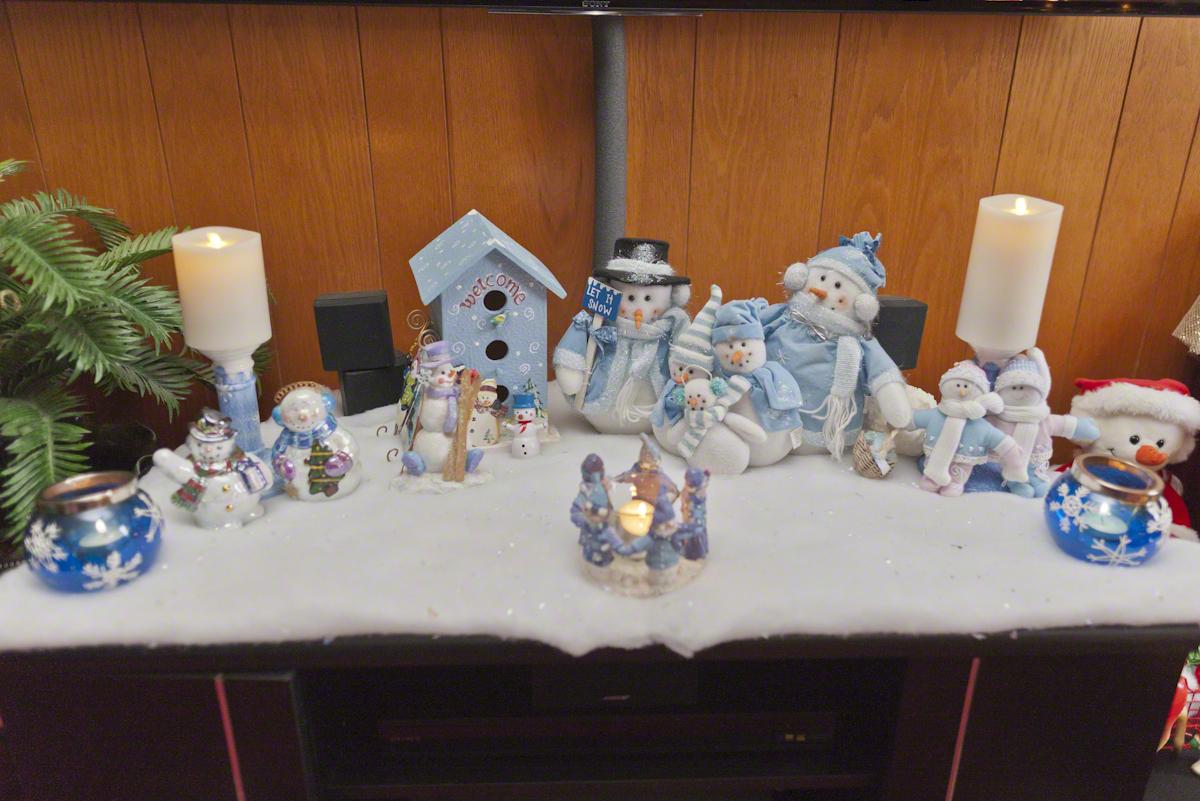 Christmas Snowman Display