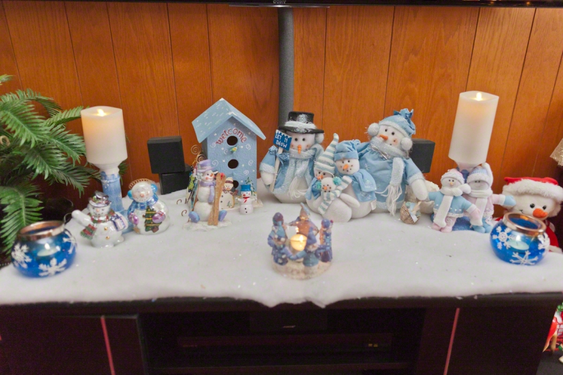 Christmas Snowman Display
