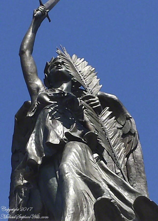 This statue surmounts the Pennsylvania Memorial near the Highwater Mark of the 1863 Battle of Gettysburg.