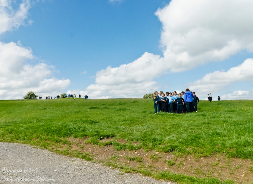 Schoolchildren on Hill of Tara – CLICK ME for more Ireland photography.