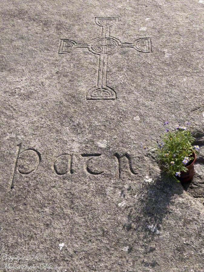 Inscription, St Patrick Grave
