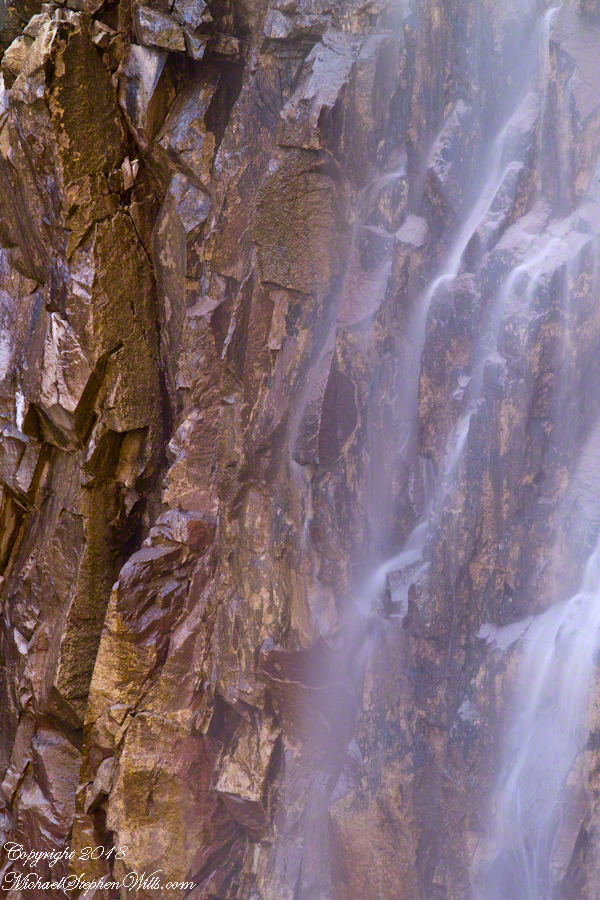 Foot of Reavis Falls from Talus Pile – CLICK ME for more abstract photography.