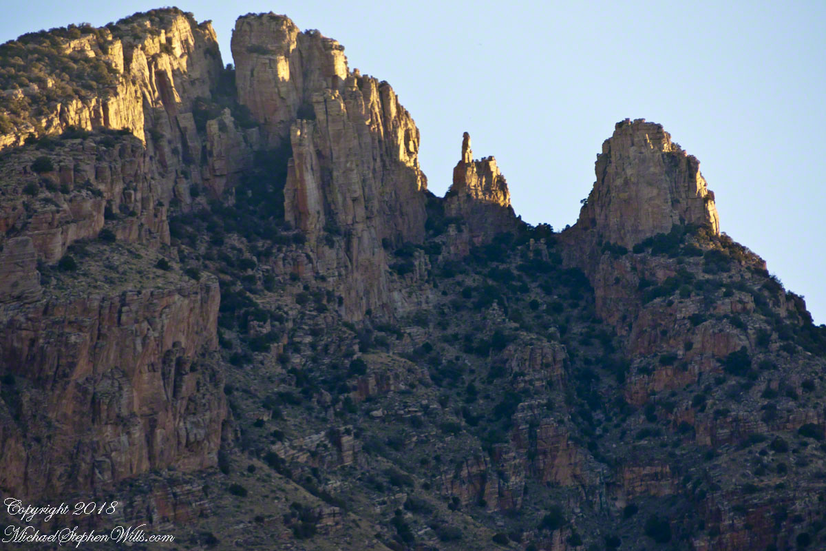 Catalinas, Finger Rock, and Saguaros – CLICK ME to view Ocotillo Sunset.