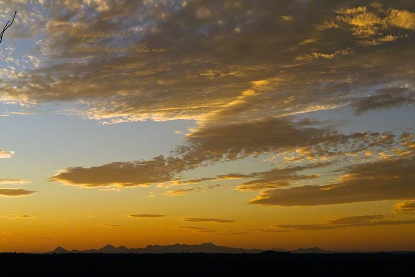 Saguaro Sunset – CLICK ME to view Ocotillo Sunset.
