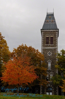 Built in 1868, McGraw Hall has the honor of having the first of Cornell's towers. The building is built of Ithaca stone and is home to the American Studies Program, Department of History, Department of Anthropology, and Archaeology Intercollege Program. The first floor of McGraw Hall houses the McGraw Hall Museum, a collection of roughly 20,000 objects from around the globe used for teaching by the Anthropology Department. Source: A Photo Tour of Key Buildings at Cornell University by Allen Grove