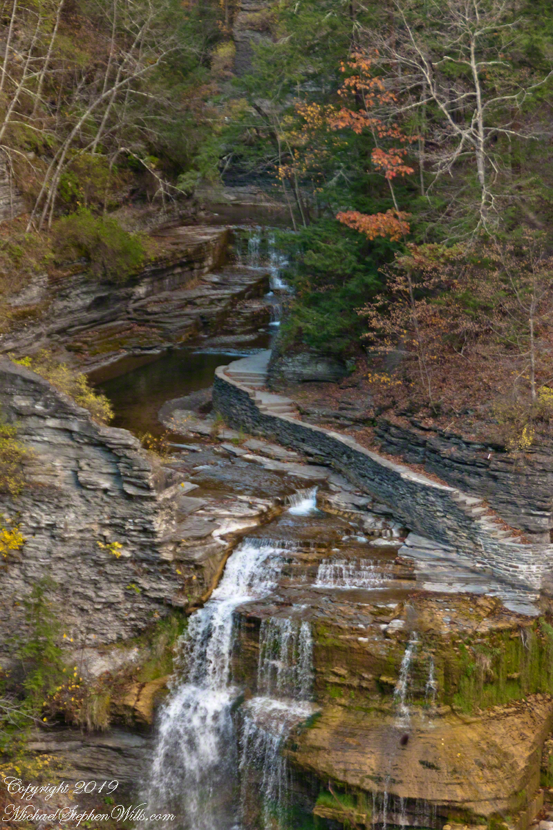 Lucifer Falls from Rim Trail Overlook