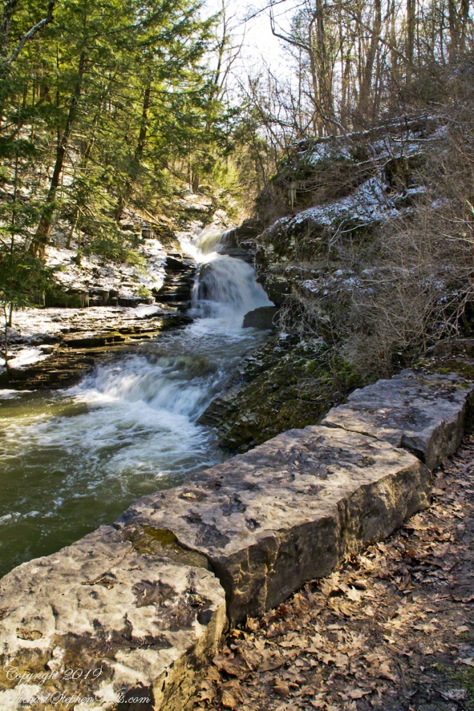 Falls by the Old Mill, early spring