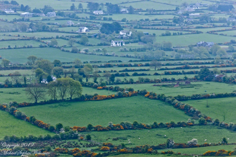 Ballycoly Farmlands from  Slievenaglogh
